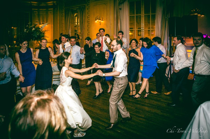 Bride and Groom candidly caught having fun on the dance floor