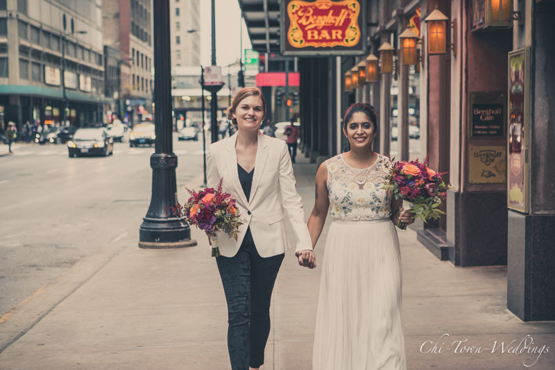 Bride and the Bride together in Chicago