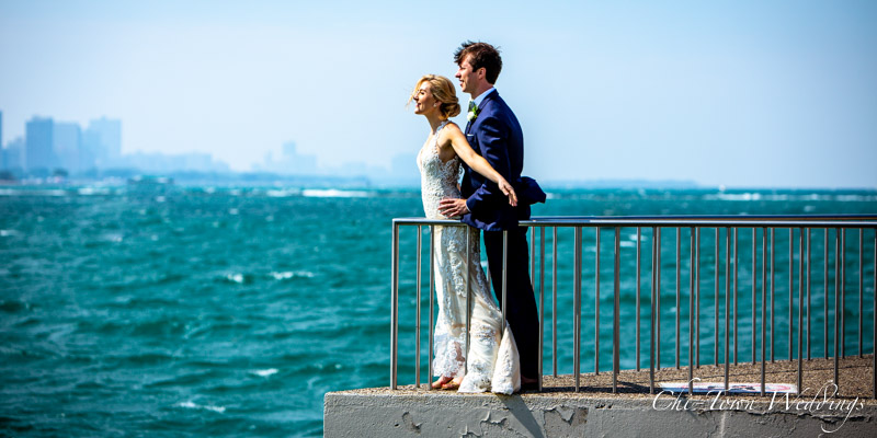 www.Chi-Town-Weddings.com  Bride and groom Olive Park Chicago