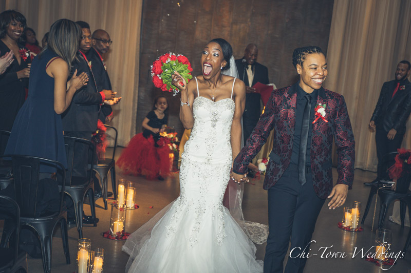 www.Chi-Town-Weddings.com Bride and Bride married