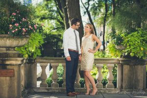 Chi-Town Weddings Engagement session Art Institute Garden, 2018